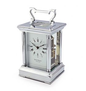 David Peterson Anglais 8 day Mechanical Carriage Clock. Y/DP/AG/S/SK with Strike Movement
